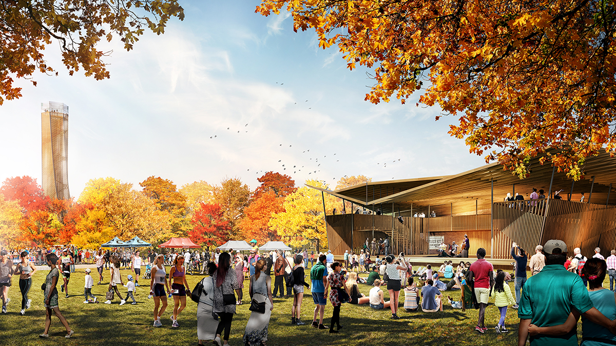 Unity Park rendering of Reunion gathering area