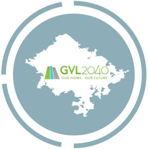 map of city with GVL2040 logo
